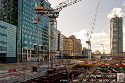 Crossrail Canary Wharf Station in London, England