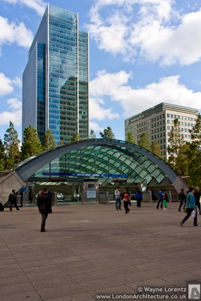 London Underground Canary Wharf Station in London, England