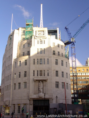 Broadcasting House in London, England