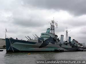 Naval Architecture on Hms Belfast  Morgan S Lane At Tooley Street  London  England  Se1