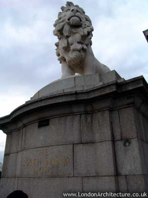 The South Bank Lion in London, England