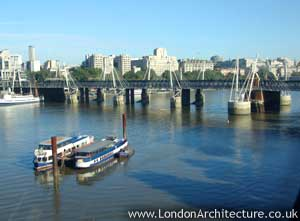 Hungerford Bridges in London, England