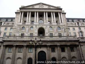 Bank of England in London, England