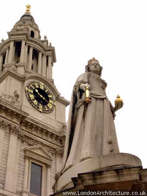 Queen Anne Statue in London, England
