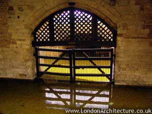Traitor's Gate in London, England