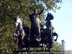 Boudica Statue in London, England