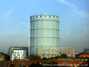 Battersea Gasometer in London, England