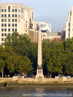 Photo of Cleopatra's Needle in London, England