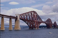 Firth of Forth Bridge in Edinburgh, Scotland