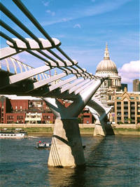 The Millennium Bridge in London, England