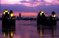 Photo of The Thames Barrier in London, England